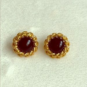 Vintage Dior pierced earrings